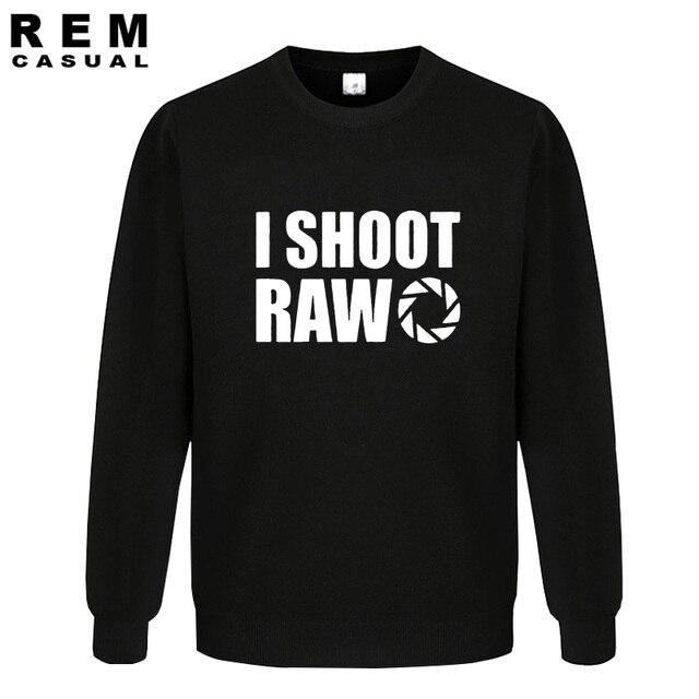 סגנון חדש אני לירות גלם מצחיק צלם מתנה ארוך שרוול גברים מקרית נים, חולצות