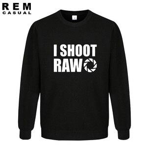 Image 1 - New Style I SHOOT RAW Funny Photographer Gift long sleeve Men Casual Hoodies, Sweatshirts