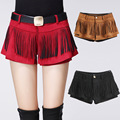 new 2016 fashion autumn winter women culottes crochet Suede shorts skirts tassel Solid Shorts Skirts Boots Shorts Hot sale