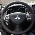 Steering Wheel Cover Case for Mitsubishi Lancer Multifunctional OUTLANDER ASX Genuine Leather DIY Hand-stitched Car-styling
