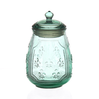 Color Pattern Glass Bottle Candy Sealed Storage Bottle Crystal Food Containers Store The Bottle Kitchen Food Storage Tank