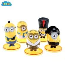 ToyBear toys hobbies 2015 New 9cm 5pcs/set minion toys doll  minion action toy figures freeshipping