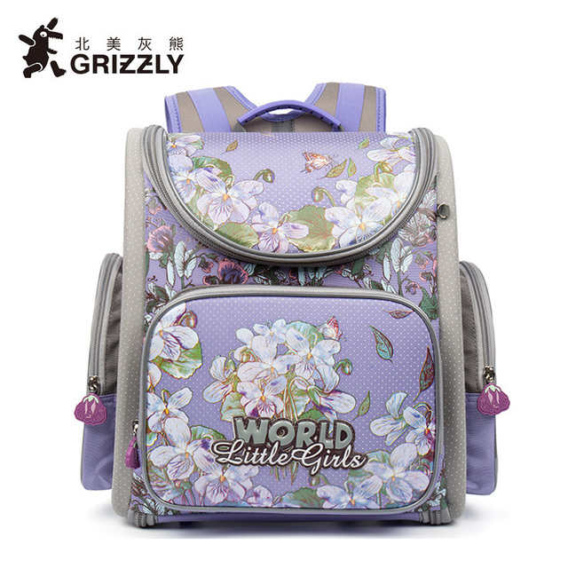 grizzly kid backpack escolar school bags for girls primary bookbag
