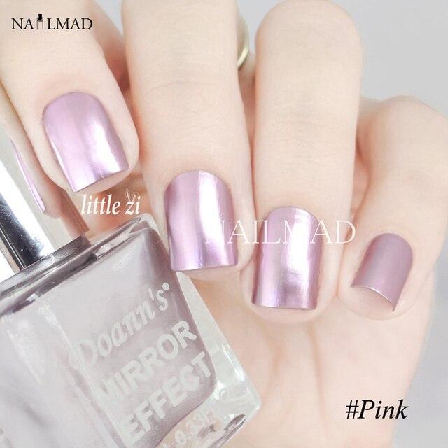 2 botellas de 10 ml de Color Rosa Espejo Metálico de Esmalte de Uñas ...