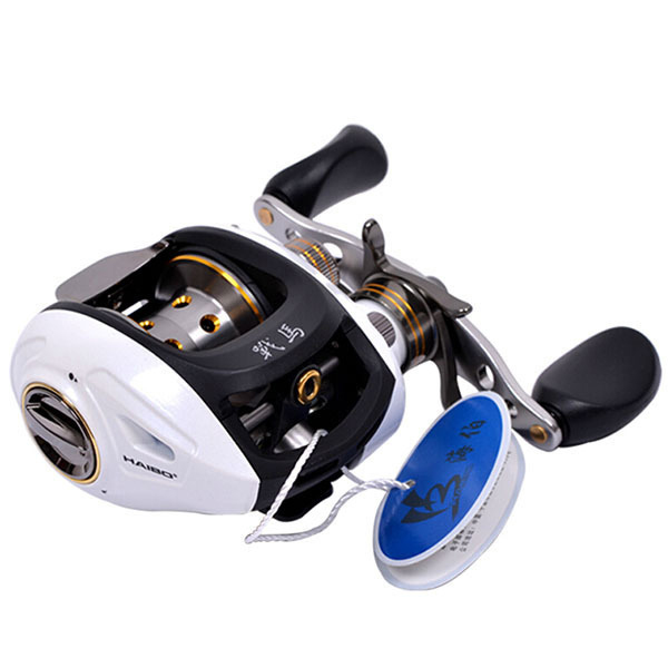 Haibo STEED Baitcasting Reel 8+1 BB Fishing Reel Left/right Hand White Metal Centrifugal Brake Bait Casting Lure Fishing Wheel smart baitcasting reel 6bb 6 2 1 right left hand reel molinete peche carretilha carretes pesca lure wheel fishing line winder