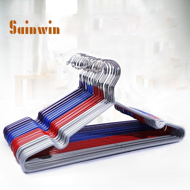Sainwin 30ks / šarže 40cm Silný závěsný závěs pro závěsy z umělé hmoty pro ramínko na šaty