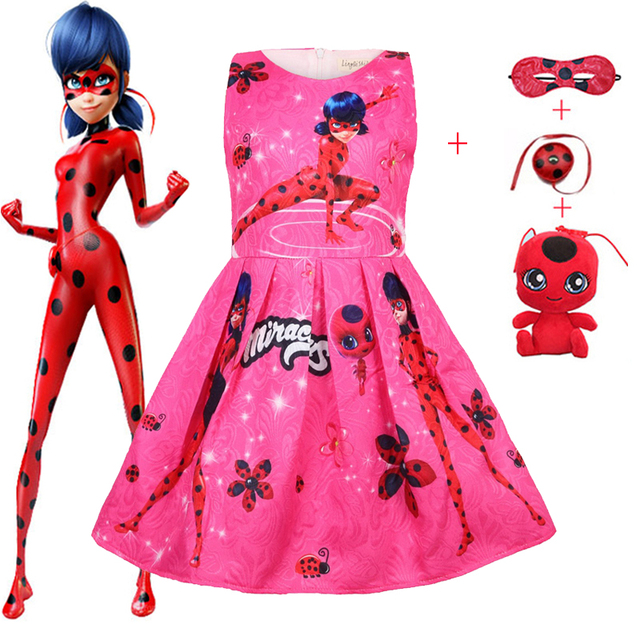 Party Clothes miraculous Kids Fille Children's Lady Vestidos Baby Girl For Dress Bug 25Off Girls 99 Ladybug Clothing Us11 Robe Gown Xmas In f7byYgI6v
