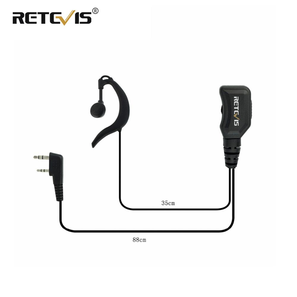 G Type Adjustable Volume Earpiece PU Wire 2Pin PTT Headphone For Kenwood For BaoFeng UV-5R 888S For Retevis RT5R H777 RT5 RT7