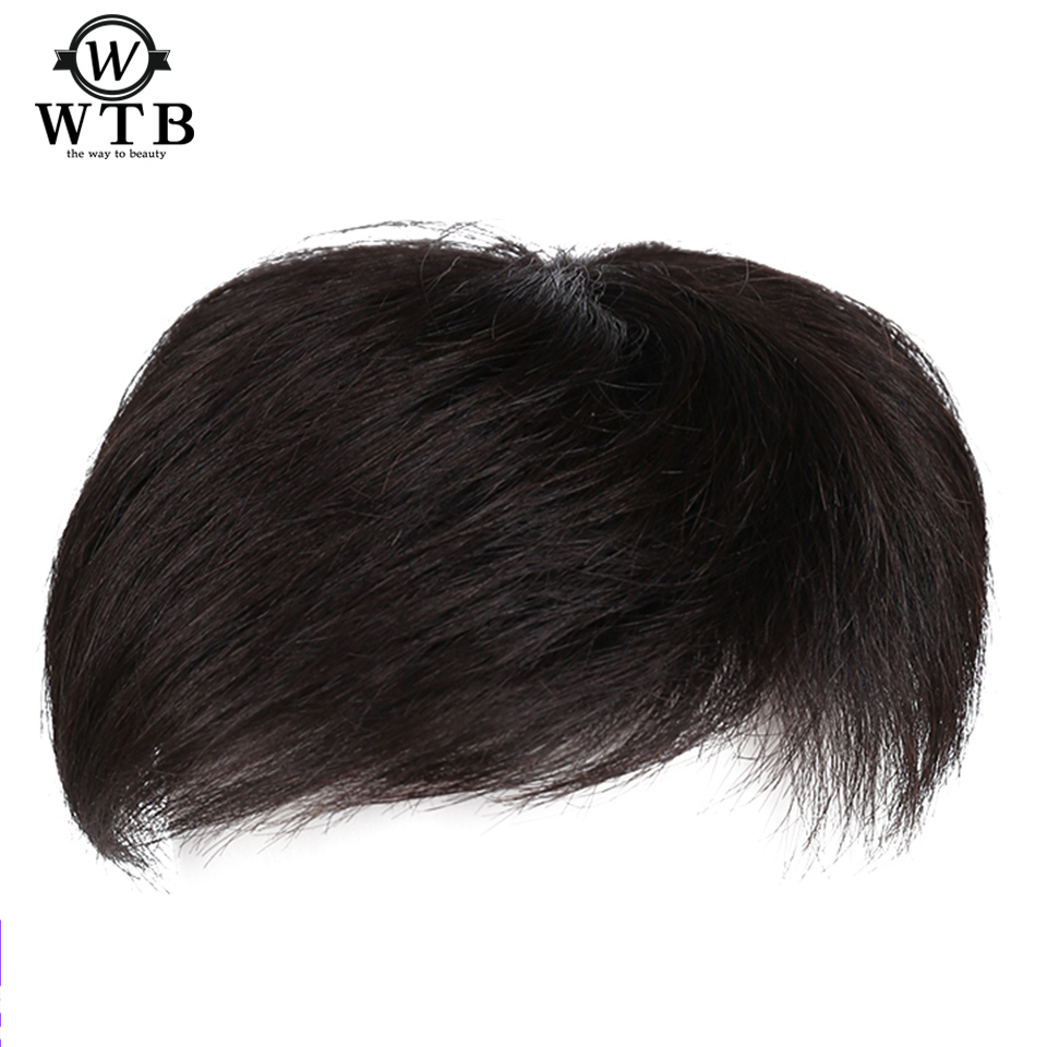 WTB Man Toupee With high temperature silk synthesis Material Hair Hand-made Topper
