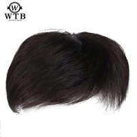 WTB homme toupet avec haute température soie synthèse cheveux matériel cheveux fait à la main Topper postiche Top Piece synthétique Comingbuy