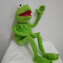 Ücretsiz kargo 45cm karikatür Muppets KERMIT kurbağa peluş oyuncaklar yumuşak erkek oyuncak bebek çocuklar için doğum günü hediyesi