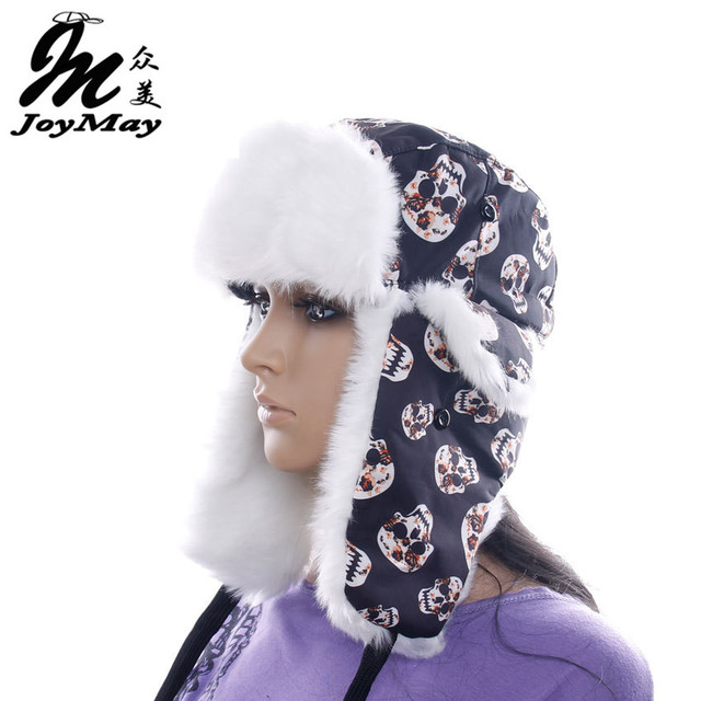 High Quality 2014 winter Warm Proof Trapper Hat Women aviator hat sport Skull hat boutdoor ear flaps bomber caps W062