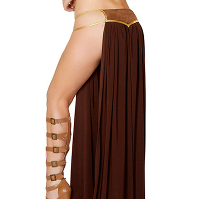 2018 New Sexy Carnival Star Wars Cosplay Princess Leia Slave Costume Dress Gold Bra and Neckchain  5