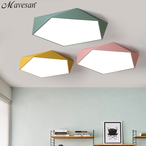 Image 1 - Macarons Ceiling Lights Colorful Lampshade Lamp For Living room Bedroom Kids room ceiling mount indoor Lights Ceiling Lights