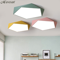 Macarons Ceiling lights colorful lampshade lamp for living room bedroom kids room surface mounted led home De Techo Iluminacion