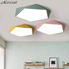 Macarons tavan ışıkları renkli abajur lambası oturma odası yatak odası çocuk odası tavan montaj kapalı ışıkları tavan ışıkları
