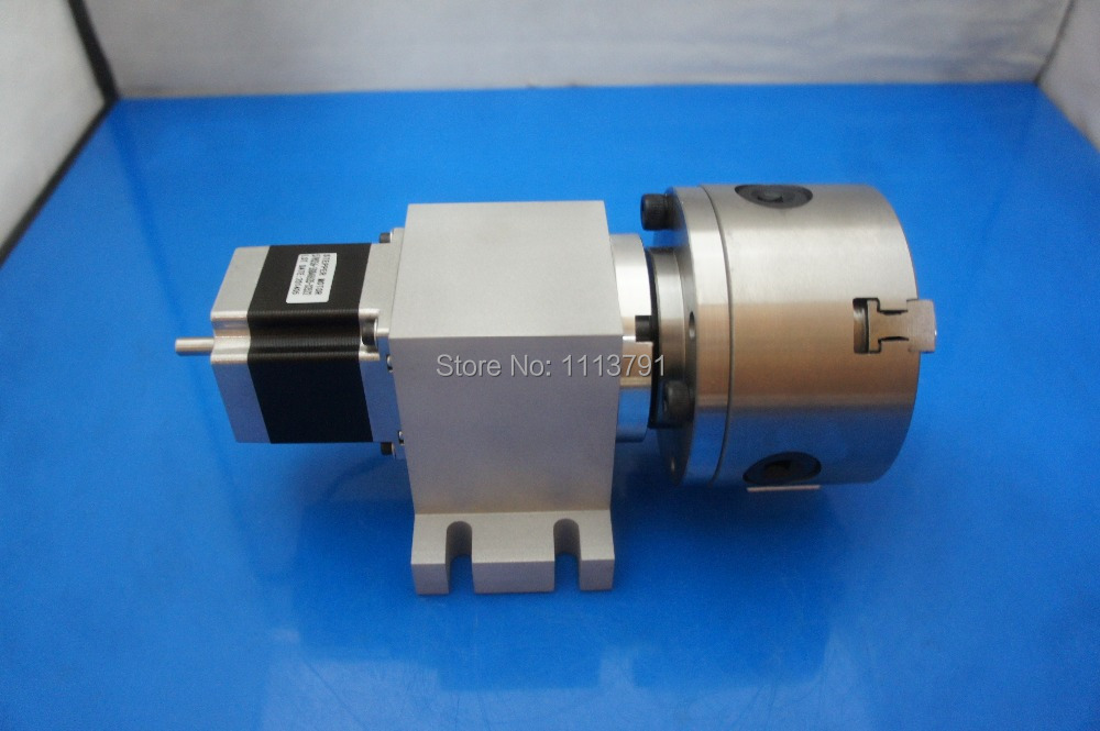 CNC Router Rotational Axis, the 4th Axis, A axis for the engraving machine,80 mm 3-jaw Scroll Chuck ( With harmonic gear box) cnc milling machine part rotational a axis 80mm 3 jaw chuck page 5