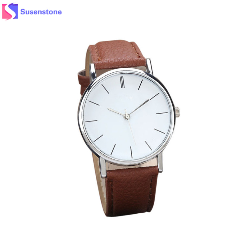 Wavors Watches Women Men Elegant Clock Fashion Analog Quartz Watch PU Leather Unisex Wrist Dress Watches Relogio Masculino wavors luxury watches women men leather band rome number auto time analog wrist quartz dress watch