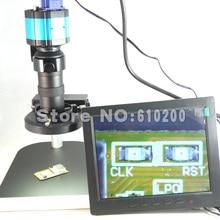 Buy online 2.0MP HD Digital Industry Industrial Microscope Camera Magnifier VGA AV TV +C-Mount Lens+Stand Holder+Ring Light+8″LCD Display