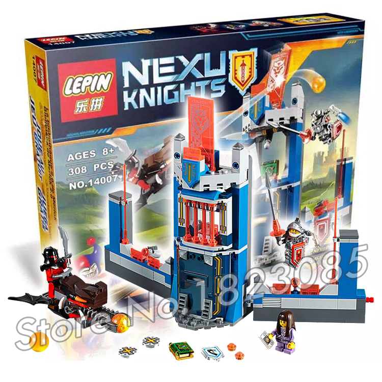 308pcs 2016 New Knights Merlock s Library Model Building Children Bricks Action Nexus Compatible With Lego