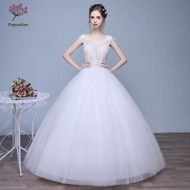 Bridal Dresses Princess Cute Lace Slim Fit Wedding Dresses Backless ...