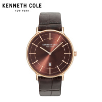 Kenneth Cole Mens Watches 2018 Luxury Brand KC15057013 Stainless Steel Quarz Leather Strap Buckle Calendar Couple Watches