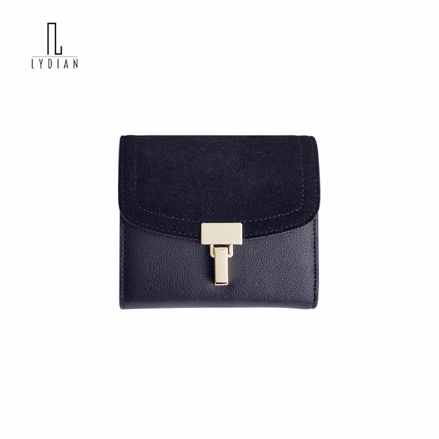 Lydian 2018 Famous brand Designer clutches Cowhide Wallet Women Bag Retro green Purses Short Buckle Suede Personality Money Bags
