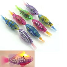 Good deal  1pc Toy Electric Fish Pet Swimming Fish With Water Grass LED Lamp For Kids
