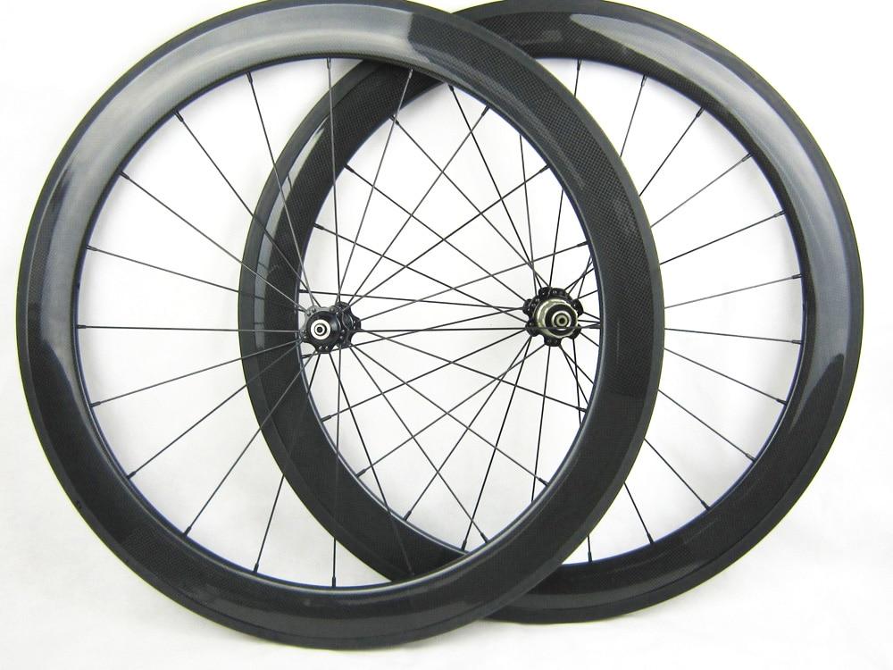 20.5mm width 60mm clincher full carbon bike wheels,straight pull hub
