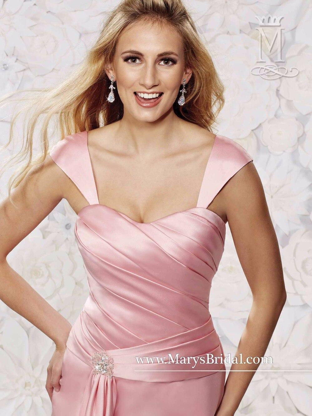 Vestidos de dama de honor 2017 de largo de color rosa sirena de ...