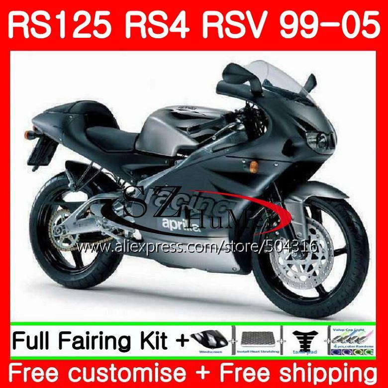 Корпус для Aprilia RS 125 1999 2000 2001 2002 2003 2005 84SH7 RS4 RS 125 RSV125 Топ матовый серый RS125 99 00 01 02 03 04 05 обтекатели