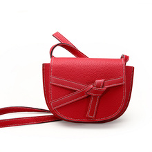 Bag Woman Famous Luxury Brand 2019 New Bow Decoration Fashion Half Moon Type Shoulder Messenger