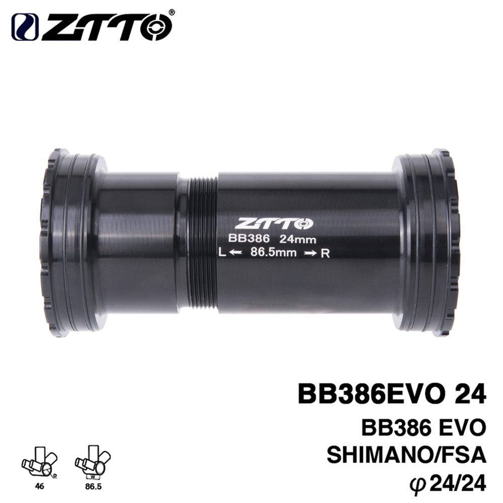 ZTTO BB386 EVO 24 Adapter MTB Road Bike Bicycle Press Fit Bottom Brackets For 24mm Crankset Chainset Mountain Bike Parts