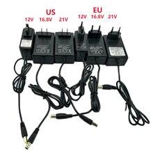 Taladro eléctrico de batería de litio, 12V, 16,8 v, 21v, cargador de batería, destornillador con cargador, cargador con enchufe europeo y estadounidense