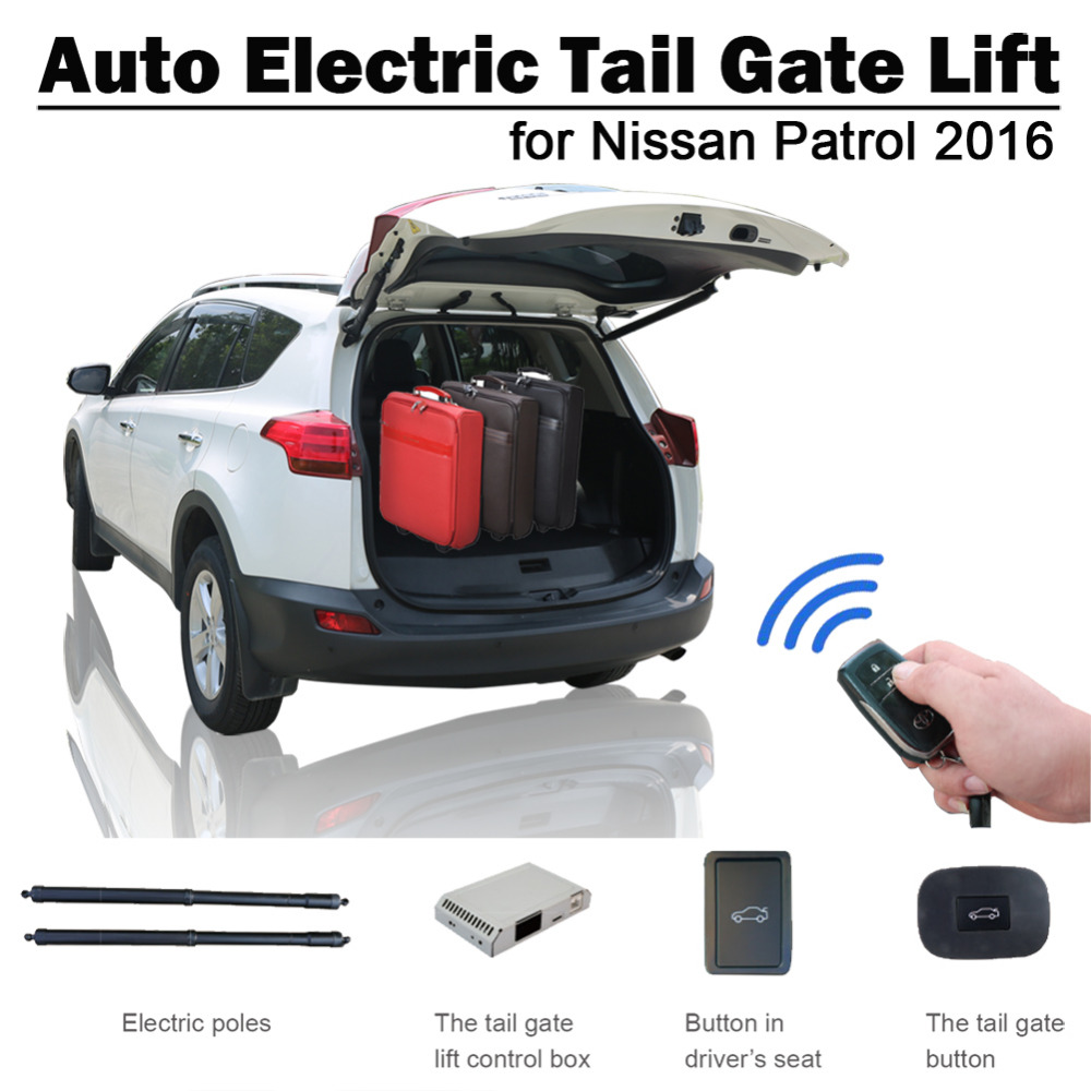 Smart Auto Electric Tail Gate Lift For Nissan Patrol 2016 Remote Control Drive Seat Button Control Set Height Avoid Pinch