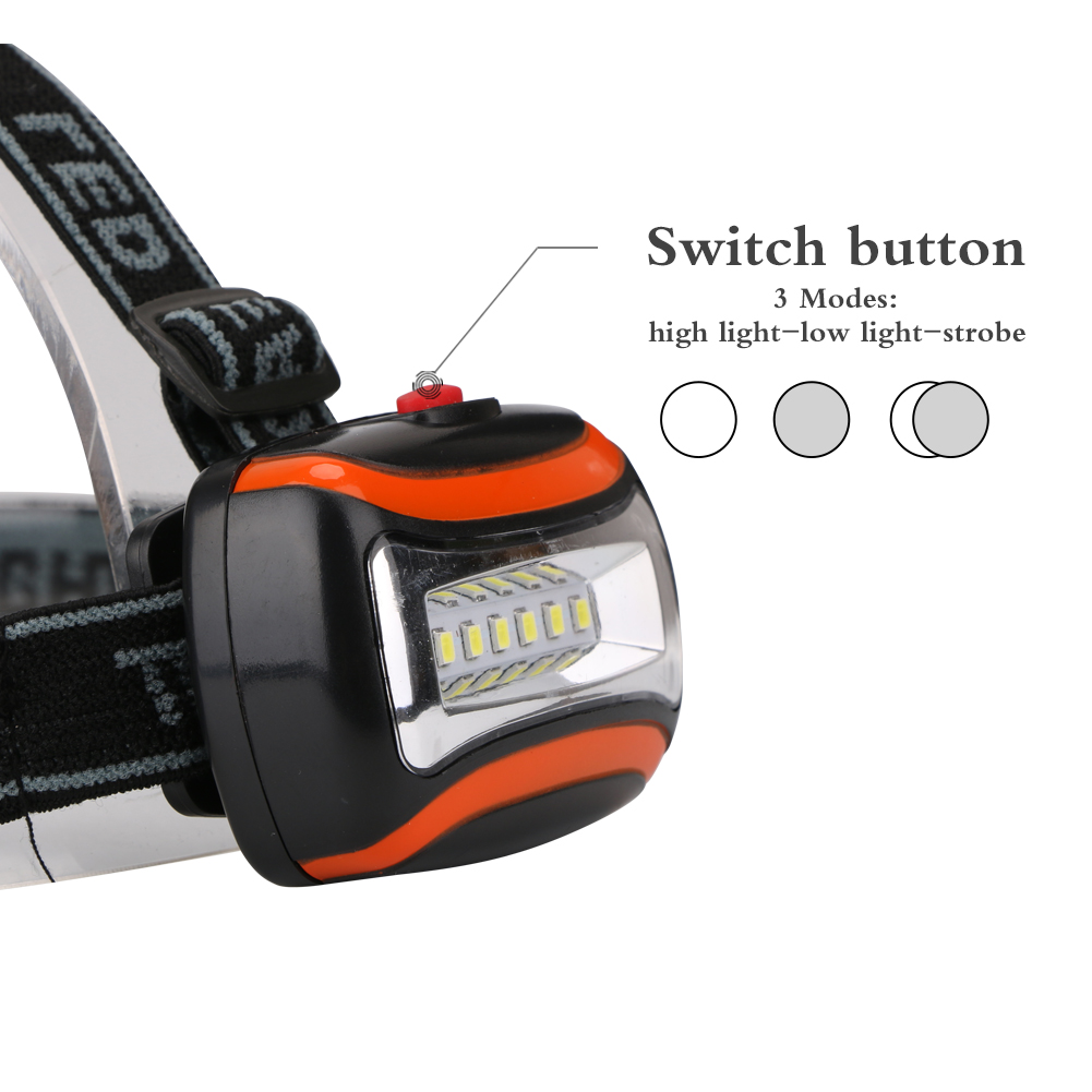 Lightweight 600LM Headlight 3W LED Light Headlamp for Cycling Camping Fishing