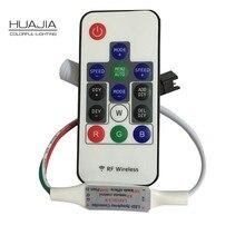 1 шт. DC5V WS2812 WS2812b WS2811 пикселей контроллер мини Беспроводной полноцветный контроллер для Светодиодные ленты света модуль 14 пульта дистанционного управления