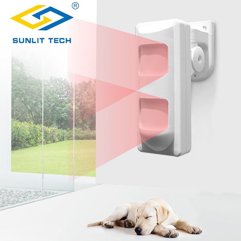 Купить с кэшбэком 3Tech Wired Outdoor Waterproof Alarm Motion Detectors Pet Immune/Wide Angle/Curtain PIR Detector for House Alarm Security System