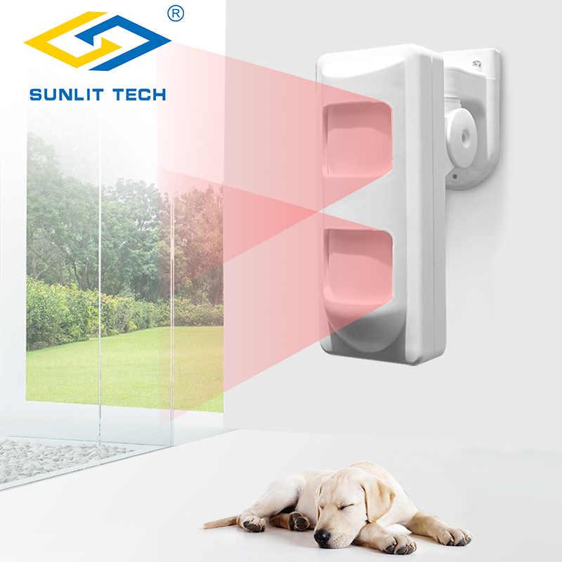 3 teknoloji kablolu açık su geçirmez Alarm hareket dedektörleri Pet bağışıklık/geniş açı/perde PIR detektörü için ev Alarm güvenlik sistemi
