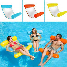 Summer Outdoor Hammock Chair Inflatable Folding Floating Water Hammock Pool Loungers Air Mattress Foldable Inflatable Float Bed(China)