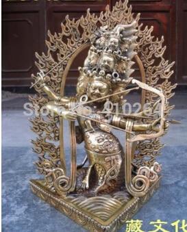 $ Netten Rabatt Riesige Artikel Nepal Tibet Dekoration Rahula Buddha Statue Mit Drachen 32 Cm