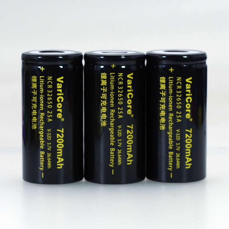 VariCore 3.7 V Pin Sạc Li-ion 32650 7200 mAh 20A 25A Xả Liên Tục Tối Đa 32A Cao Cấp pin