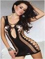 Tiene Número de seguimiento Lencería Sexy Mujeres Lencería Erótica Productos Del Sexo Caliente Trajes Atractivos de la Ropa Interior Slips Intimates Vestido Negro