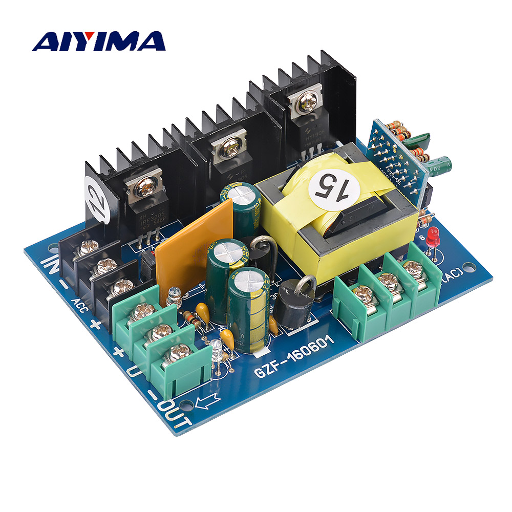 Aiyima For Amplifier Audio Speaker Power Supply Board DC12V/24V To Dual 15V Converter Board DC-Dual DC Transformer Board aiyima upc1237 speaker protection board dual channel power on delay dc protect module 11 26v for audio amplifier amp diy