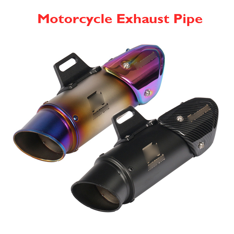 Inlet Innet 51mm 60mm Motorcycle Dirt Bike ATV Exhaust Silencer Muffler Tip Tail Pipe Motorcycle Exhaust System For Universal
