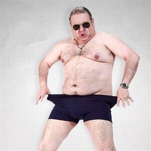 Image 3 - 脂肪下着男性ボクサーショーツファッション通気性竹繊維ふくよかボクサーオムセクシーな潮camouプリントcueca男性下着