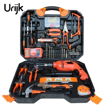 120Pcs Electrician Woodworking Hand Tool Set Box Impact Drill Multimeter Screwdriver Hammer Pliers Saw Household repair Tool Kit