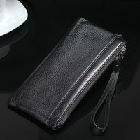 Removable Multi Function Zipper 100 Genuine Leather Wallet Case Handbag For Iphone 4s 5 5S SE