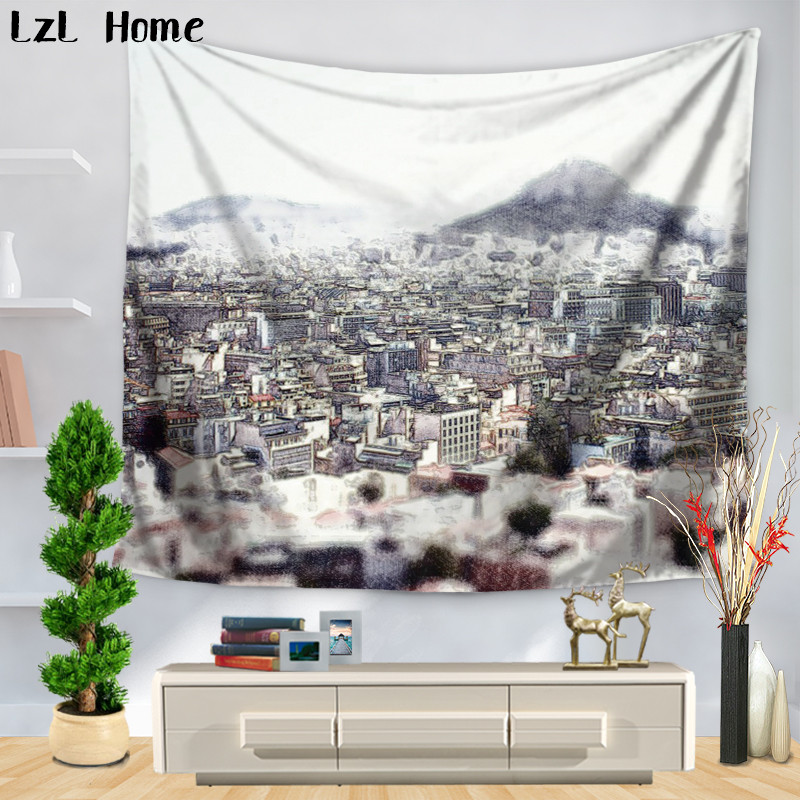 Lzl Home Spanish Architectural Style Pattern Tapestry Yoga Mat Bedspread Table Cloth Home Decor Wall Hanging Beach Throw Towel Buy At The Price Of 4 87 In Aliexpress Com Imall Com