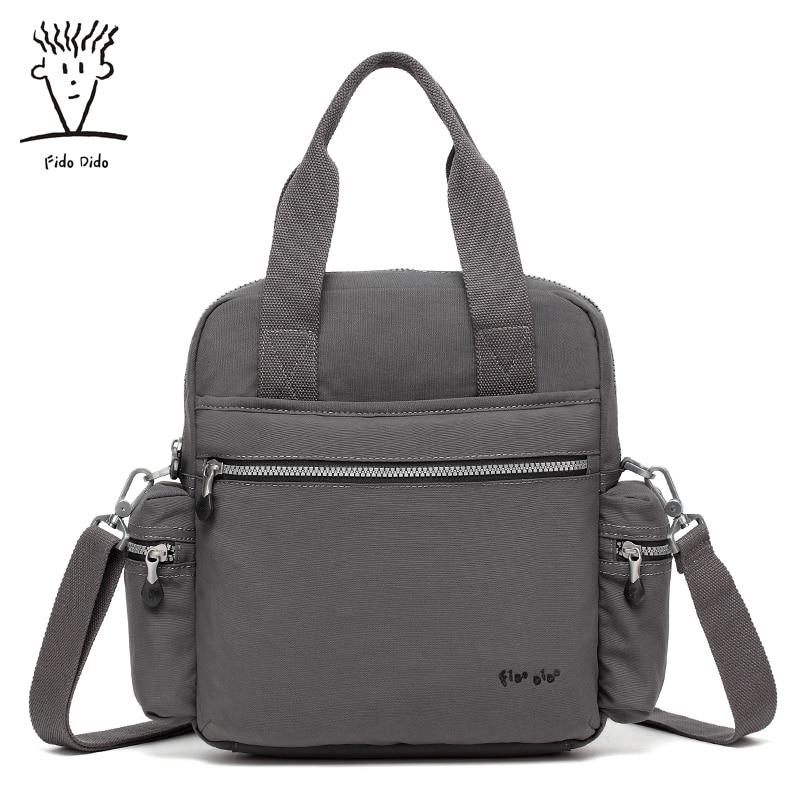 Fido Dido New 2017 Men's Bag Ipad Bag Fashion Oxford Man Messenger Bags Ipad Black Shoulder Crossbody Travel Male Bags! fido